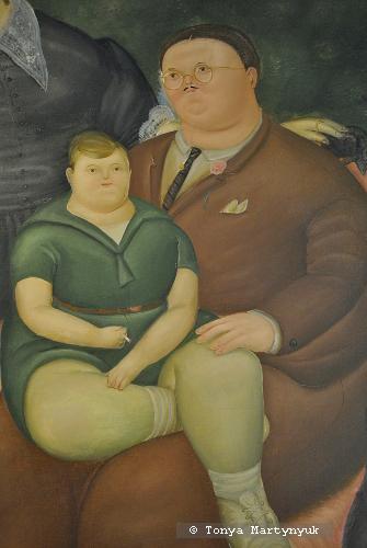28. Fernando Botero. Family Scene, 1969. Фрагмент.