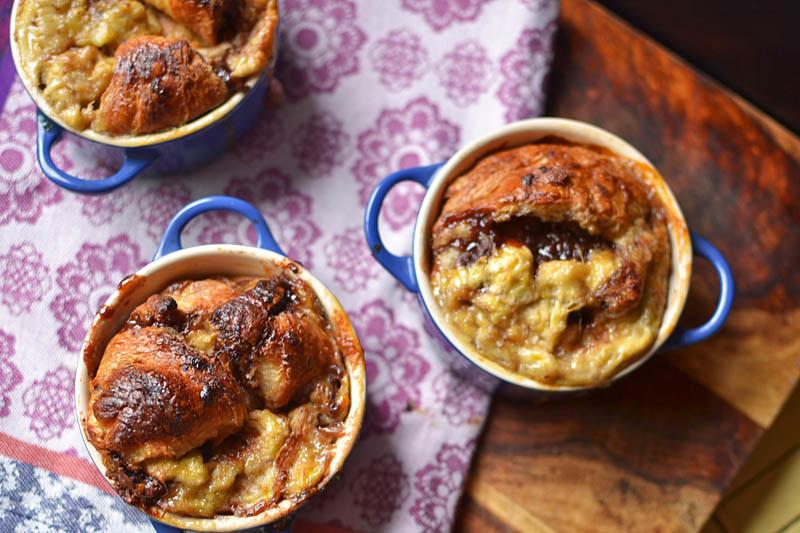 Nutella, Banana, And Croissant Pudding Recipe — Dishmaps