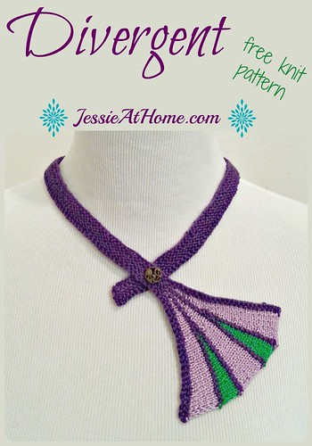 Divergent Necklace ~ Free Knit Pattern from Jessie At Home