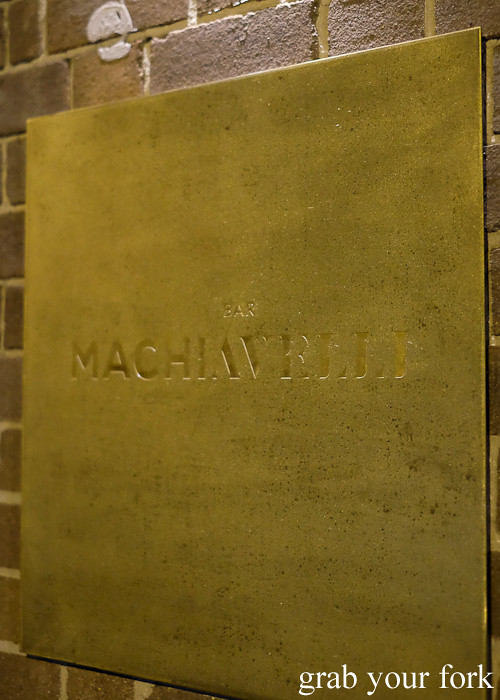 Bar Machiavelli in Rushcutters Bay