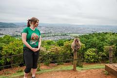 Marianne and a monkey