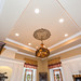 We raised the ceiling to its full potential, built coffered ceiling added recessed lights a beautiful medallion and chandelier to match the rest of the house.