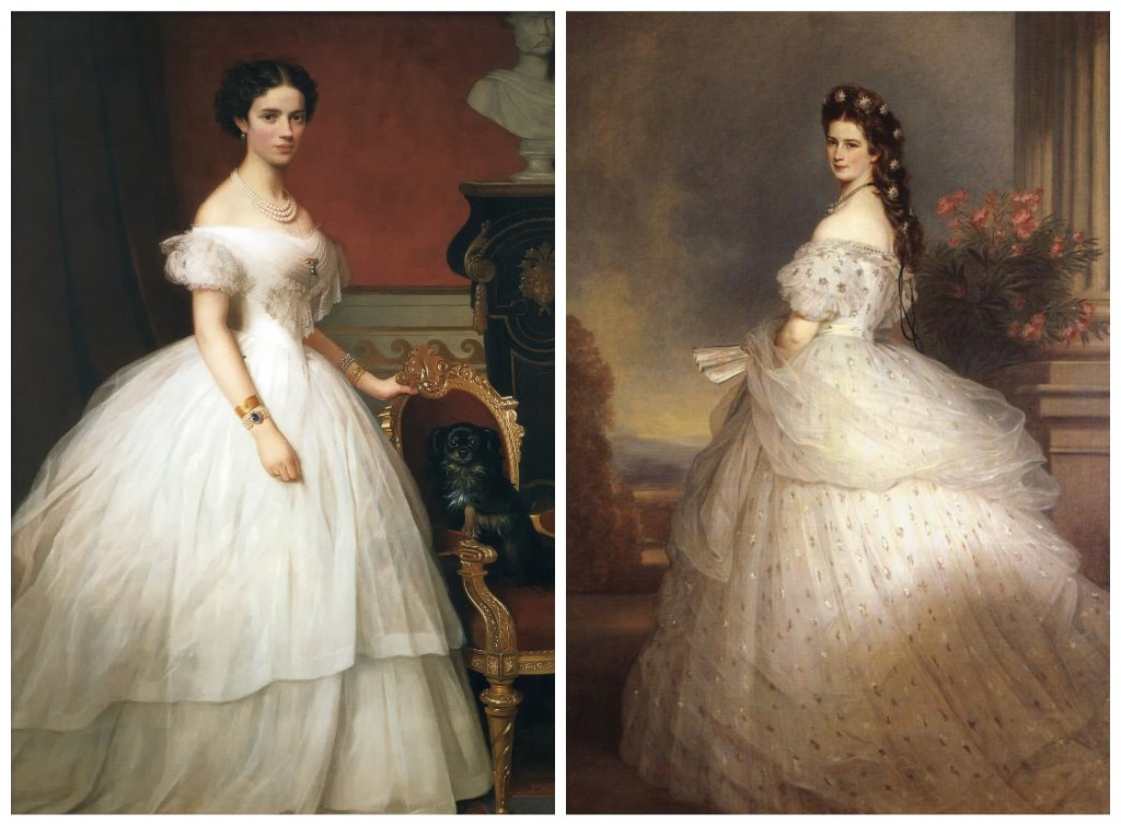 "Princess Dagmar of Denmark and Empress Elisabeth ""Sisi"" of Austria"