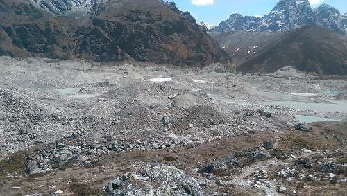 Glacier moraine Himalayas