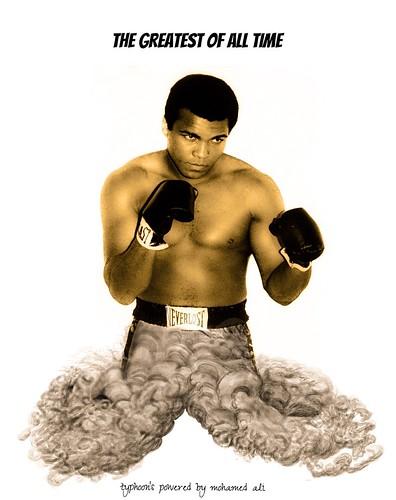 Muhammad Ali.THE GREATEST OF ALL TIME.Typhoon over Muhammad Ali