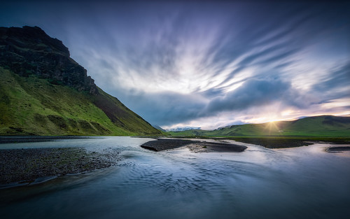 arctic flowing geology goldencircle iceland nordic sandinavia scenic sunrise atmosphere blue clouds dramatic mood nature outdoors panorama river sky sunset travel ultrawide water ~themagicofcolours~v