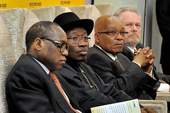 Nigerian President Goodluck Jonathan on a state visit to South Africa, 7 May 2013