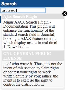 Migur Ajax Search Plugin в Joomla