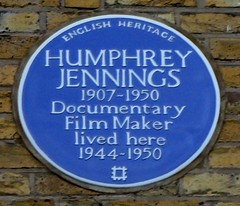 Photo of Humphrey Jennings blue plaque