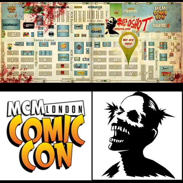 Only 2 days to go, you can find us easily on this floor plan, Zombie Headshot is located at AD11.
