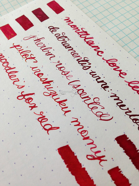 Montblanc Je T'aime Love Letter Ink Writing Samples Comparisons