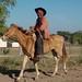 Vaquero de los buenos - Cowboy on a horse entre Juchitán y Santa Rosa de Lima, Distrito Tehuantepec, Región Istmo, Oaxaca, Mexico, Oaxaca por Lon&Queta
