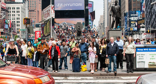 Times Square cultural cross section waits for the walk sign - #150/365 by PJMixer
