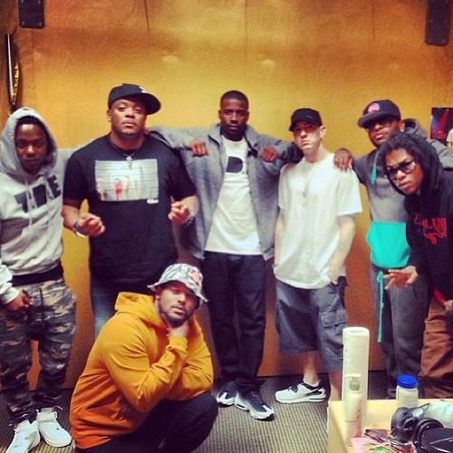 Studio Life: Eminem Meets Kendrick Lamar, ScHoolboy Q, Ab-Soul & Jay Rock (Photo)