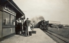 Calomba Railway Station. Going for a picnic. 1936