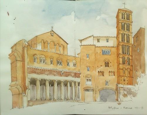 Basílica de San Juan y San Pablo. Monte Celio. Roma.