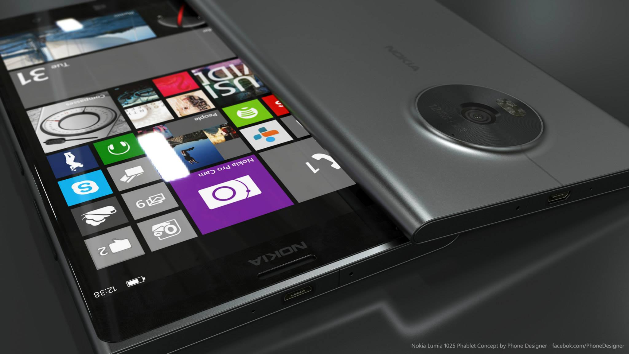 Nokia Lumia 1025平板手机概念设计
