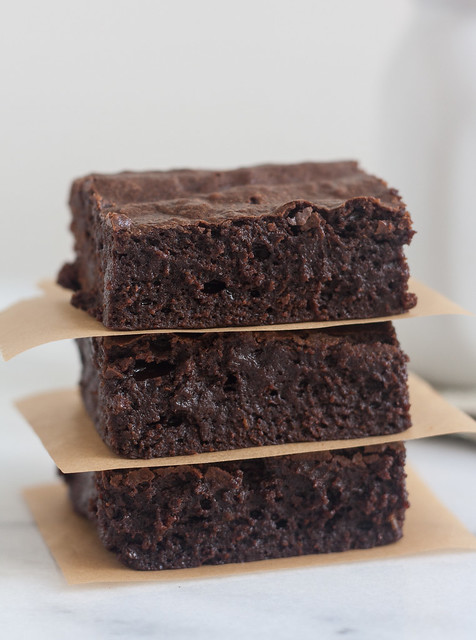 Fudgy Triple Chocolate Avocado Brownies
