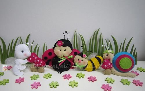 ♥♥♥ No jardim da Joaninha... by sweetfelt \ ideias em feltro