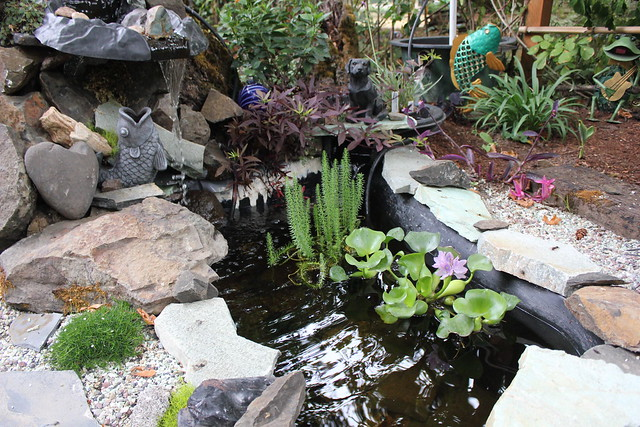 Pond Waterfall and Ornaments