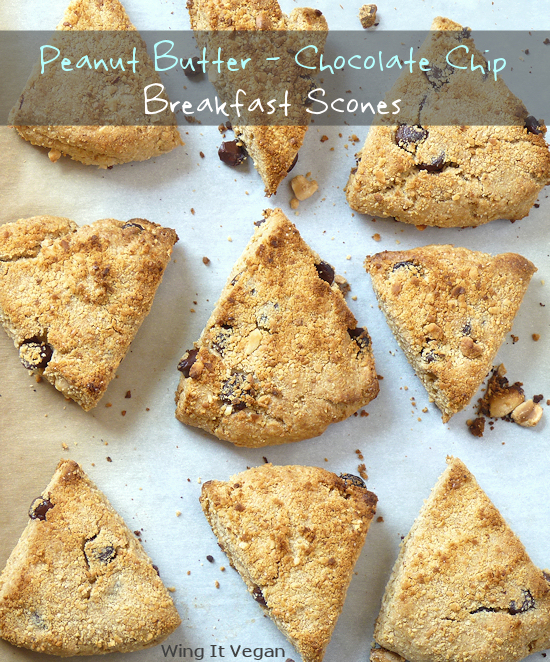 Peanut Butter - Chocolate Chip Breakfast Scones