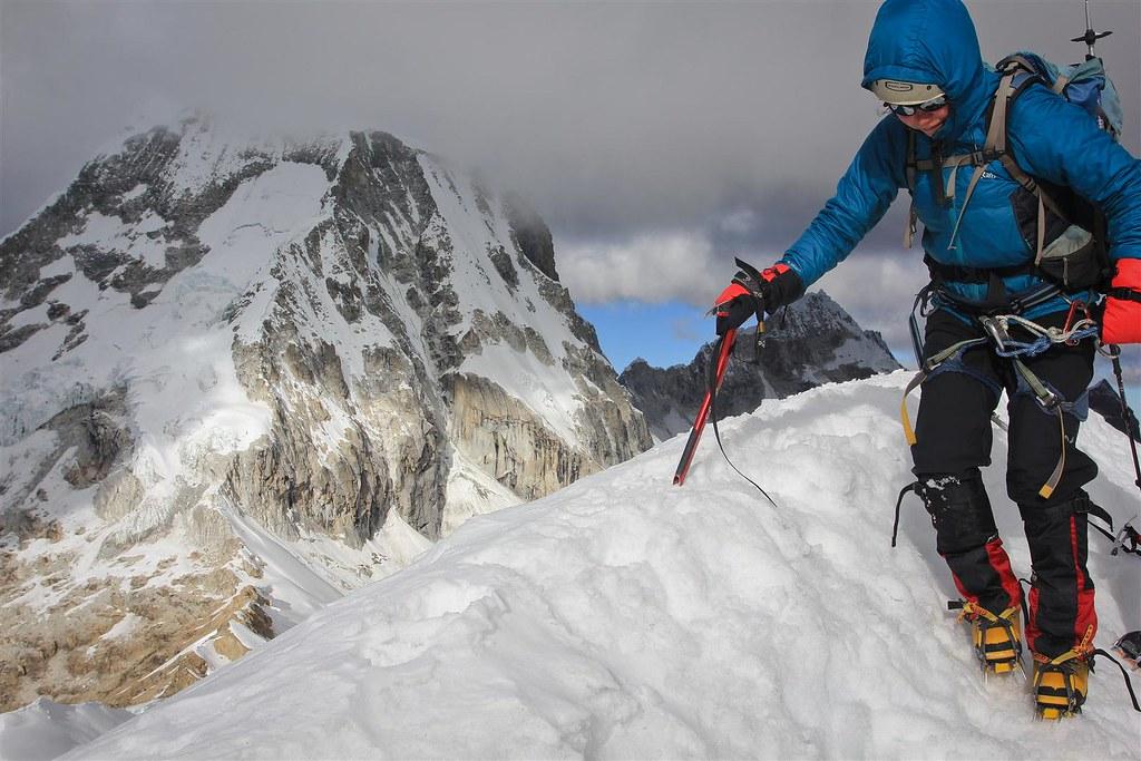 July. Nevado Ishinca (5500m). Cordillera Blanca. Peru.