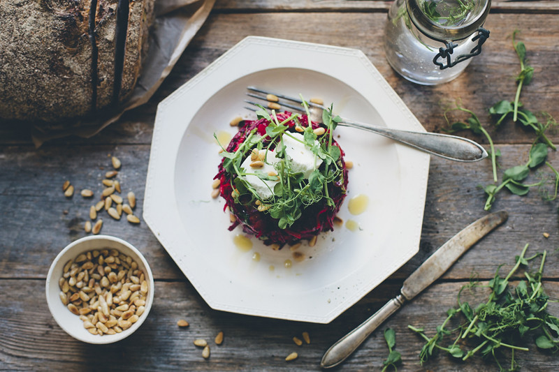 Upside-Down Raw Beet Salad on Food52