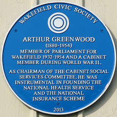 Photo of Arthur Greenwood blue plaque