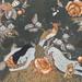 芭梅菈‧埃米亞,轉移穿透我的裂痕Slipping through my cracks,木刻版印於二十世紀初法國布料、印花棉布、線,66.5x46cm,2013