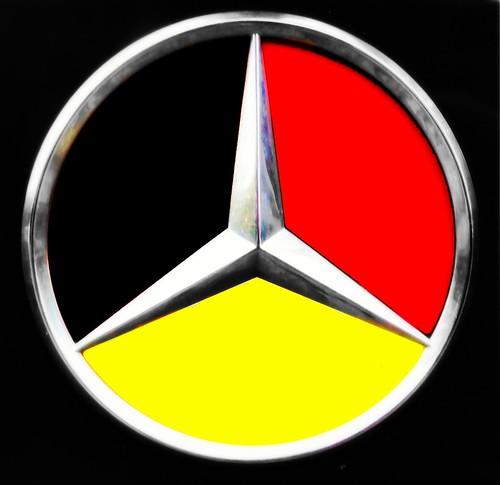 German Flag And Mercedes Benz Logo