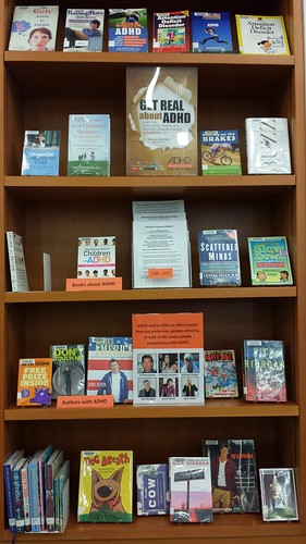 City Center Branch Library, Coquitlam ADHD Awareness Week book Display