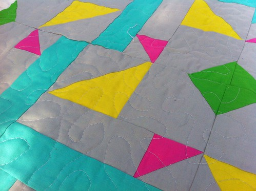 Close up quilting shot