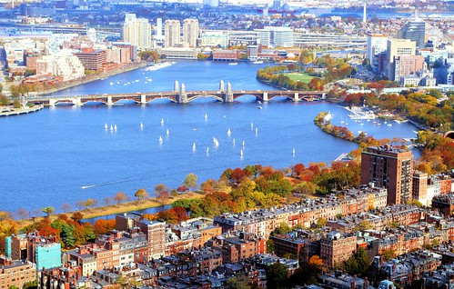 Charles River Basin, Back Bay and Cambridge by brooksbos