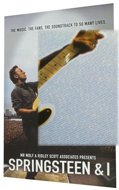 Cartel Springsteen and I detalle