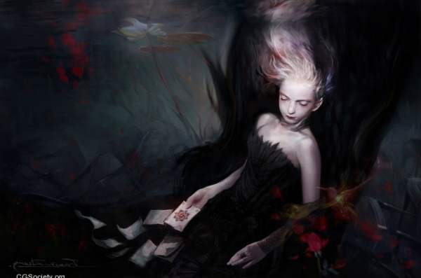 pintura de fantasmas y sombras