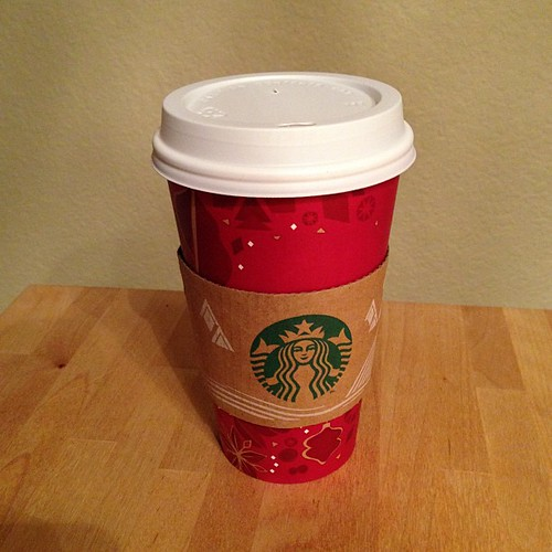 306:365 First red cup of the season. Happy Holidays! #starbucks