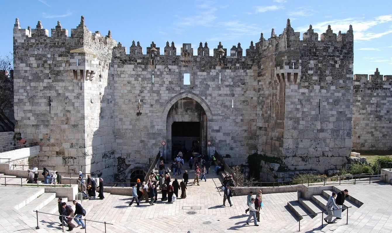 17. Puerta de Damasco. La entrada a la vieja Jerusalén. Autor, stevenconger@sbcglobal.net