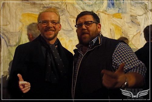 The Establishing Shot: IN FEAR PREMIERE - LEGENDS SIMON PEGG & NICK FROST FINGER GUN & SHOW SUPPORT FOR IN FEAR @ THE ICA PRESENTED BY STELLA ARTOIS by Craig Grobler