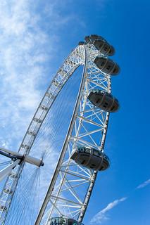 La grande roue London Eye et ses nacelles