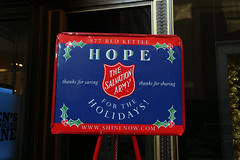 Salvation Army Outside of Macy's