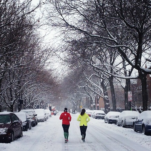 Running in a snowy wonderland