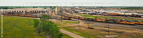railroad summer panorama tower car stairs yard train photography nebraska unitedstates steps rail roadtrip stretch ne stop bailey rest passenger i80 northplatte attraction passengercar goldenspike 2013 baileyyard