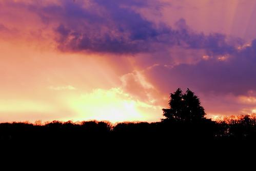 sunset de landscape soleil coucher ciel paysage