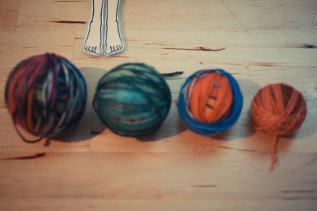 restos de lã para umas novas meias