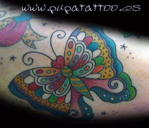 Tatuaje mariposa tradcional, Pupa Tattoo, Granada by Marzia PUPA Tattoo