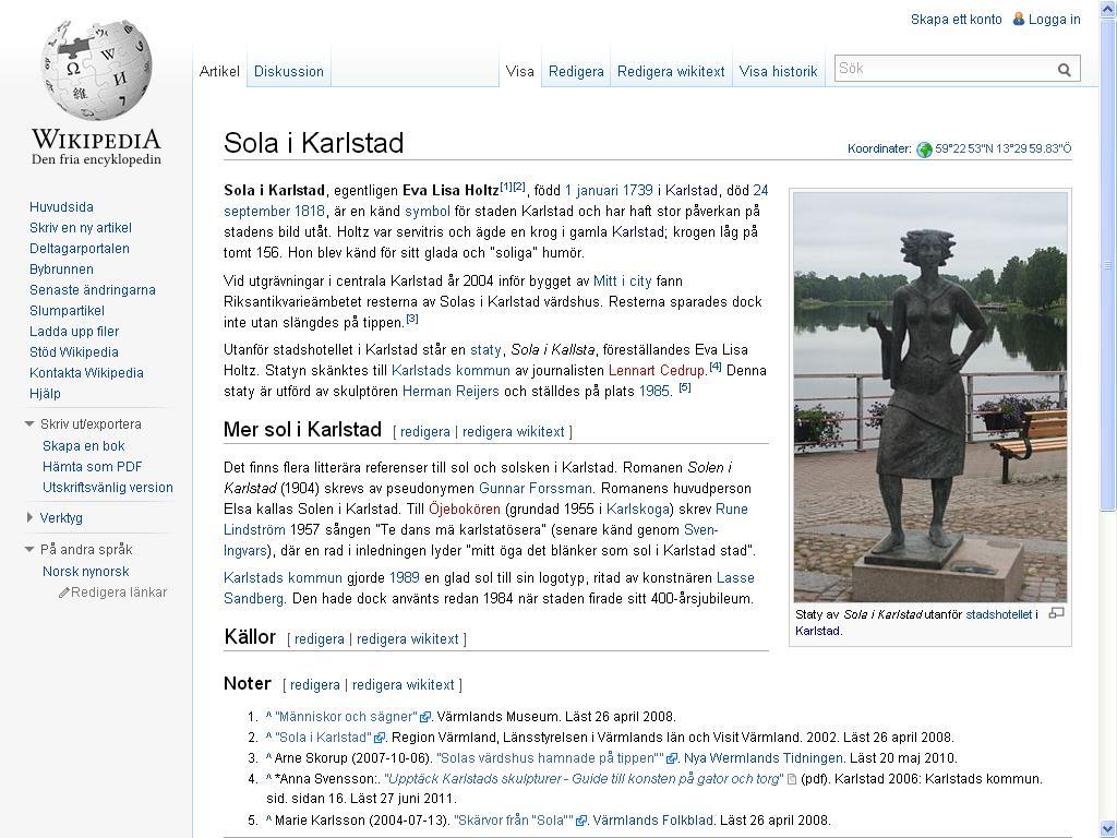 sola i karlstad wiki