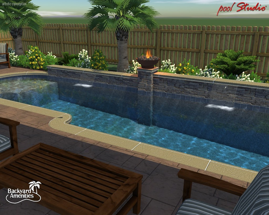 Superb 20140207 Hedges_006 · Backyard Amenities   Custom Pool ...