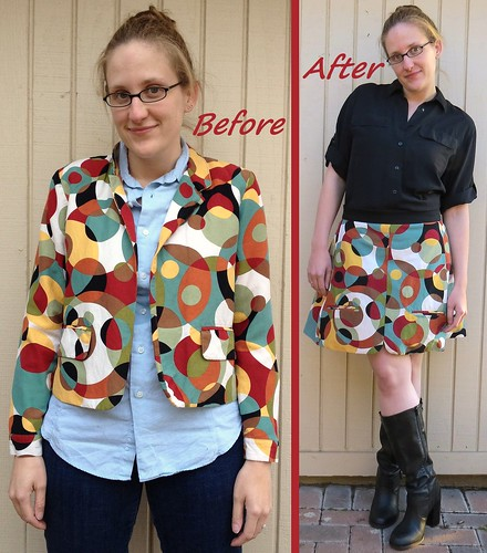 Circus Skirt - Before & After