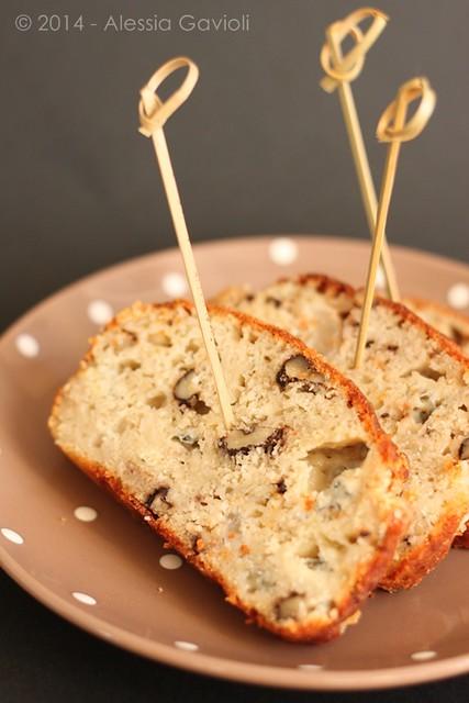 cake gorgonzola pere e noci
