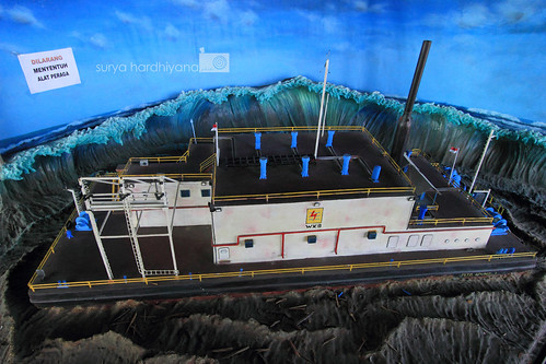 Ilustrasi Tsunami di Museum Tsunami, Aceh